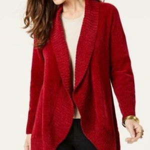 Style & Co Open Front Chenille Cardigan Sweater